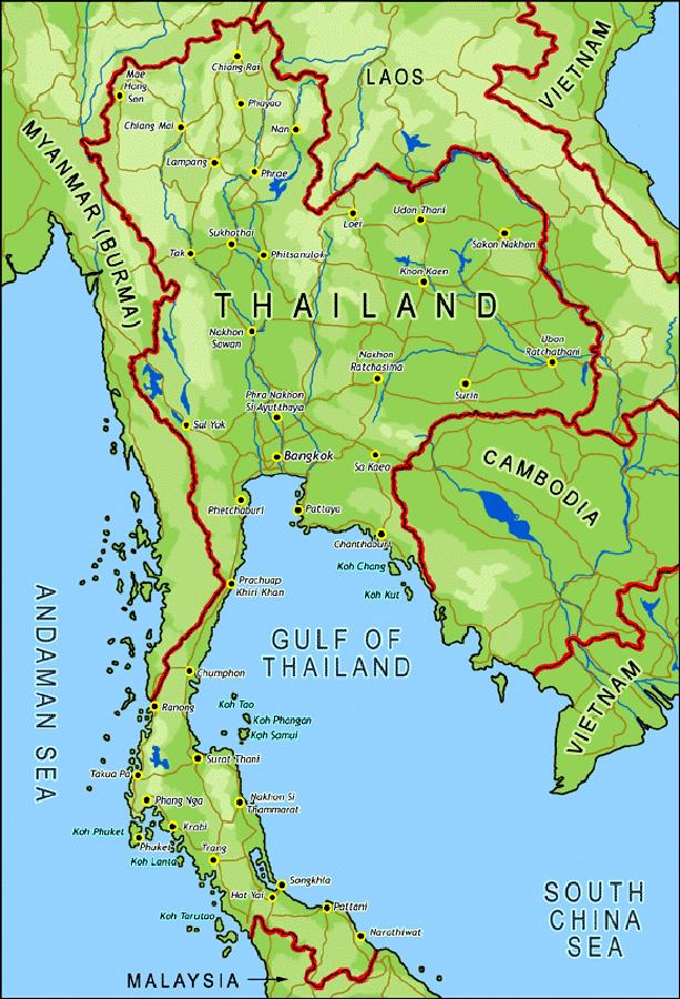 Thailandia Cartina Geografica.Cartina Geografica Della Thailandia