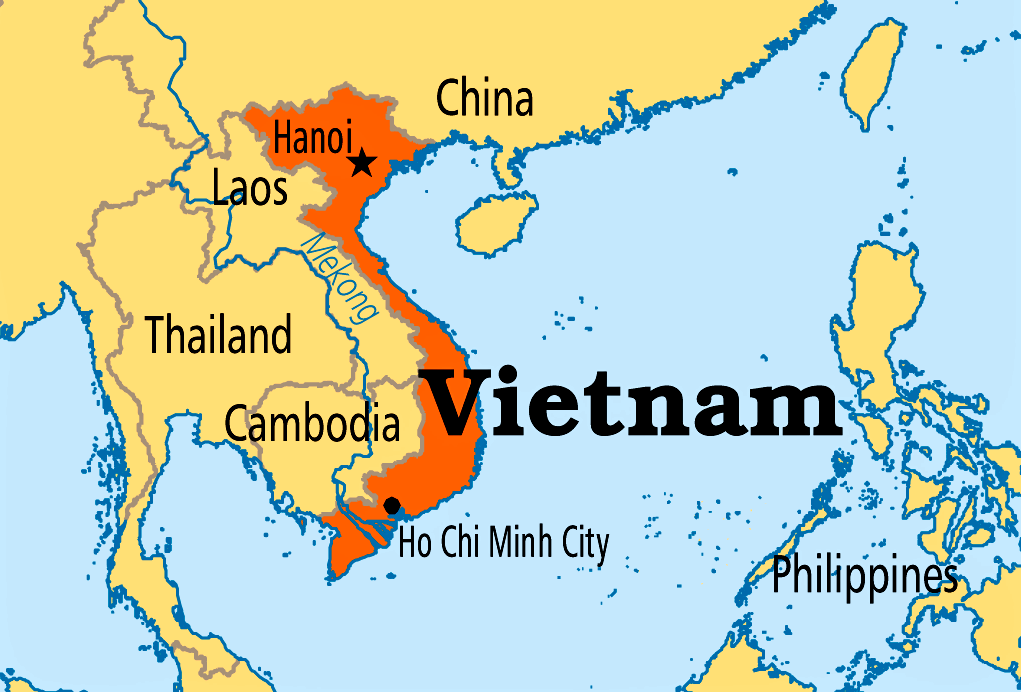 Cartina Geografia Vietnam Map Coordinate Geografiche