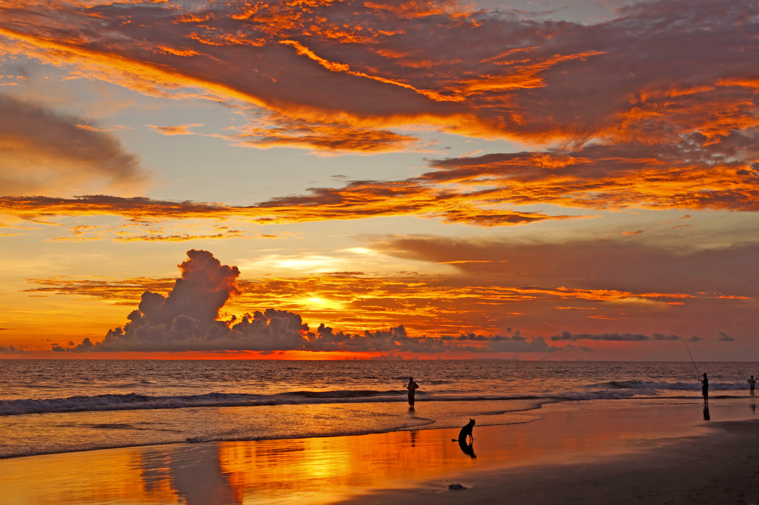 Sunset in Bali Beach: Bali Island the land of gods