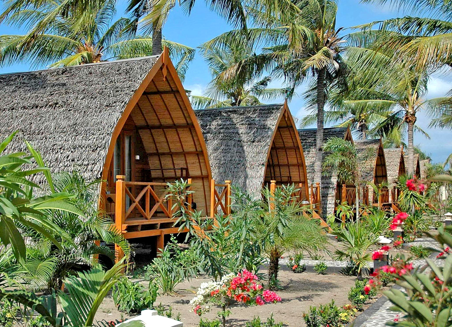 Gili Meno, Bungalows in stile Balinese, Indonesiano
