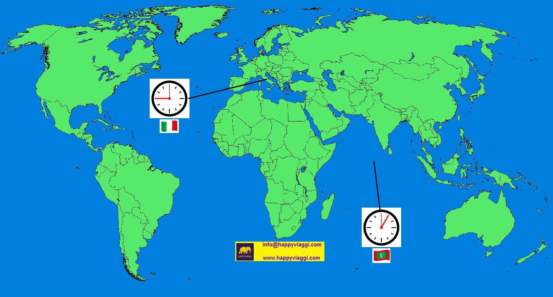 Fuso orario tra le maldive e l 39 italia for Quando entra in vigore l ora legale