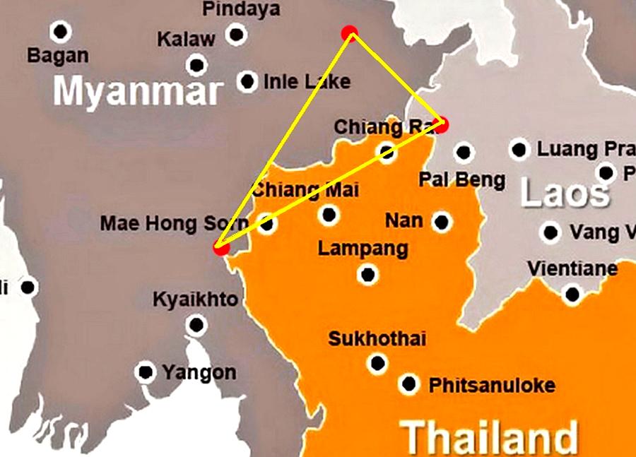 Tra Vietnam E Thailandia Cartina Geografica.Il Triangolo D Oro Thailandia