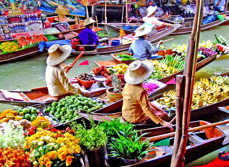 Mercato Galleggiante, Damnoen Saduak, Floating Market, Samut Songkhram, Bangkok