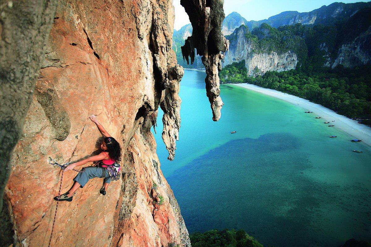 Rock Climbing, arrampicata: Railay, Tonsai, Krabi, Thailandia